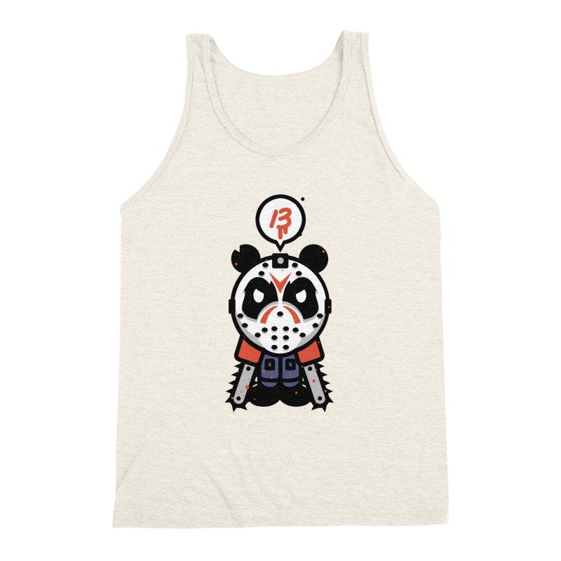 Chainsaw Panda Slasher Men's Triblend Tank by pause's Artist Shop