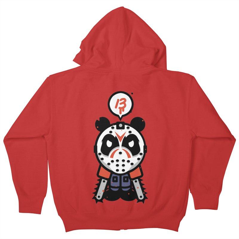 Chainsaw Panda Slasher Kids Zip-Up Hoody by pause's Artist Shop