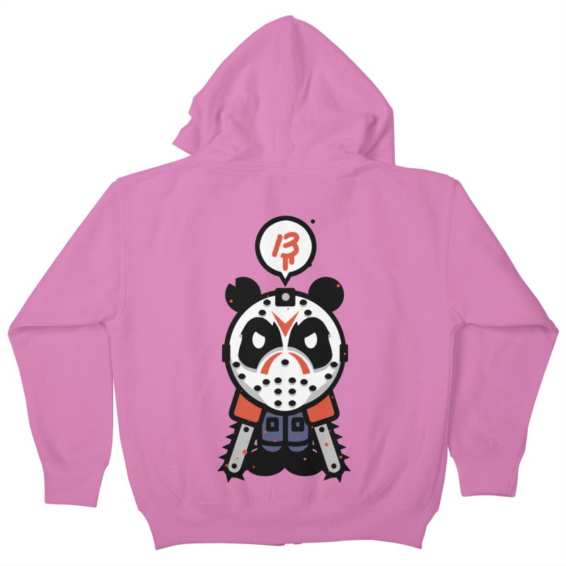 Chainsaw Panda Slasher Kids Zip-Up Hoody by pause's Artist Shop