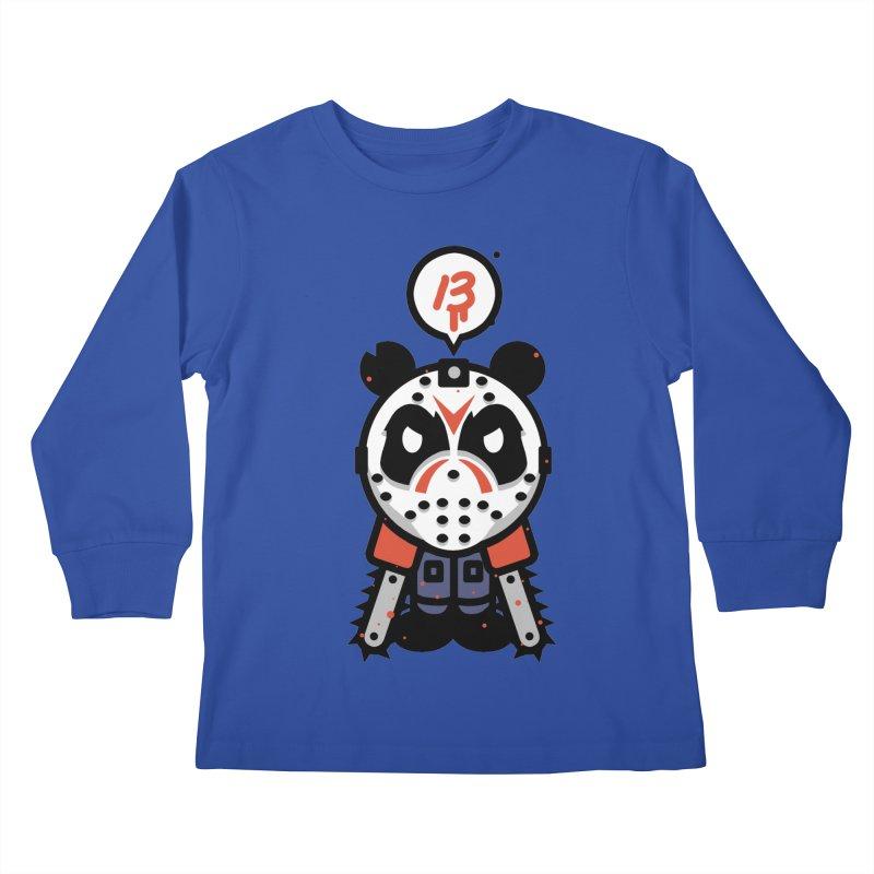 Chainsaw Panda Slasher Kids Longsleeve T-Shirt by pause's Artist Shop