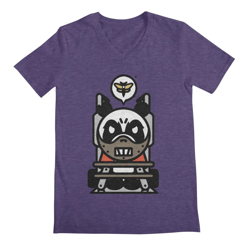 Chainsaw Panda Cannibal Men's V-Neck by pause's Artist Shop