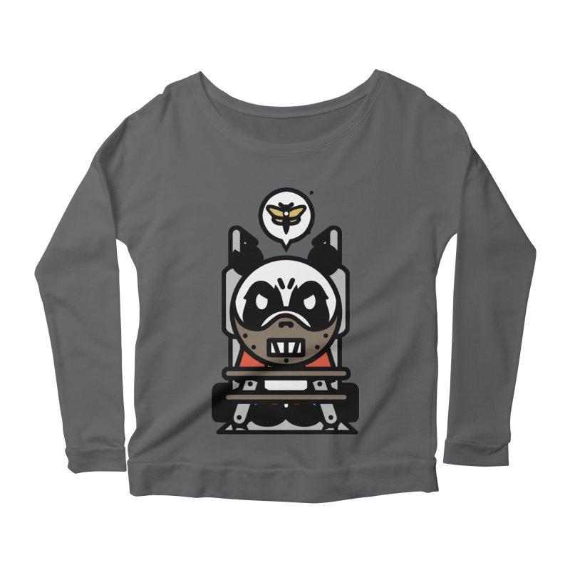 Chainsaw Panda Cannibal Women's Longsleeve Scoopneck  by pause's Artist Shop