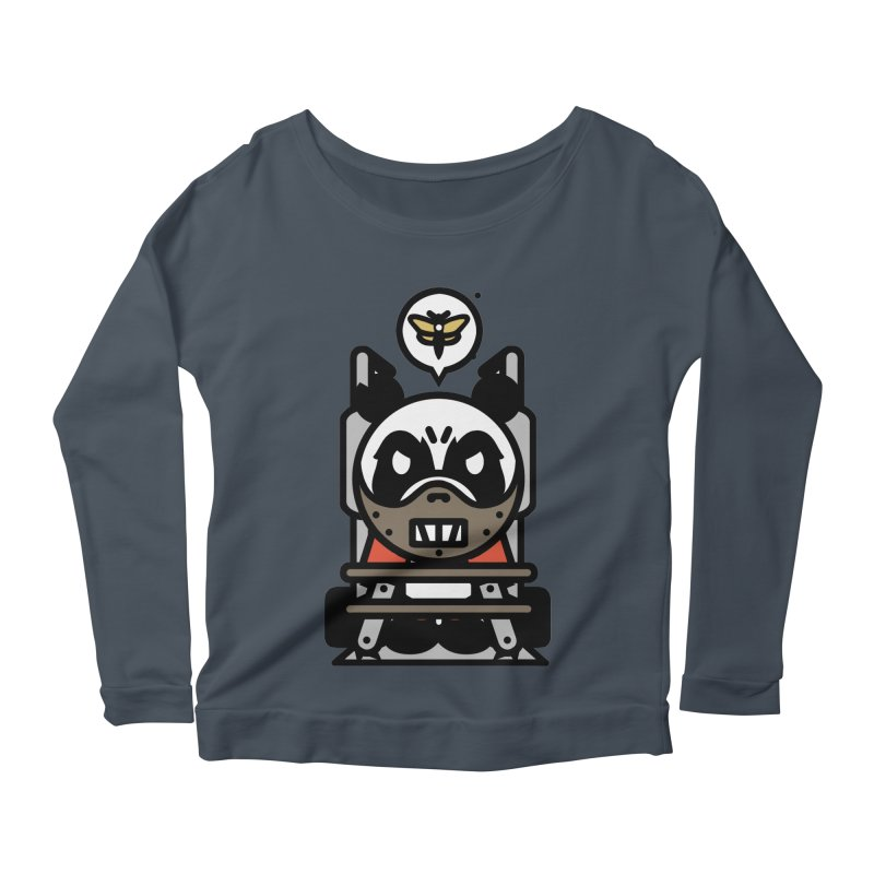 Chainsaw Panda Cannibal Women's Longsleeve Scoopneck  by pause's Artist Shop