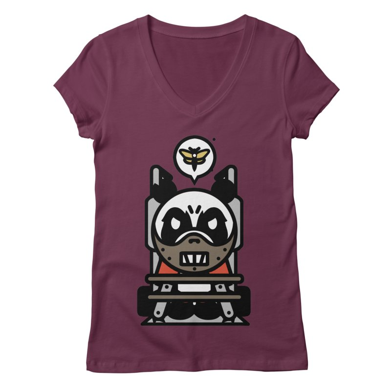 Chainsaw Panda Cannibal Women's V-Neck by pause's Artist Shop