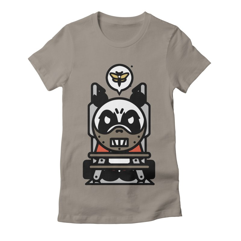 Chainsaw Panda Cannibal Women's Fitted T-Shirt by pause's Artist Shop