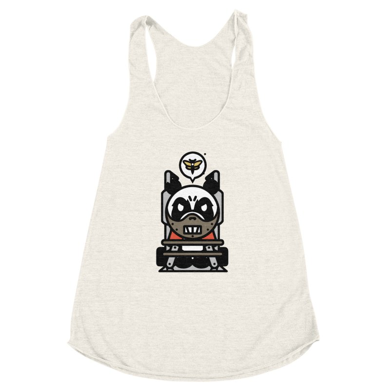 Chainsaw Panda Cannibal Women's Racerback Triblend Tank by pause's Artist Shop