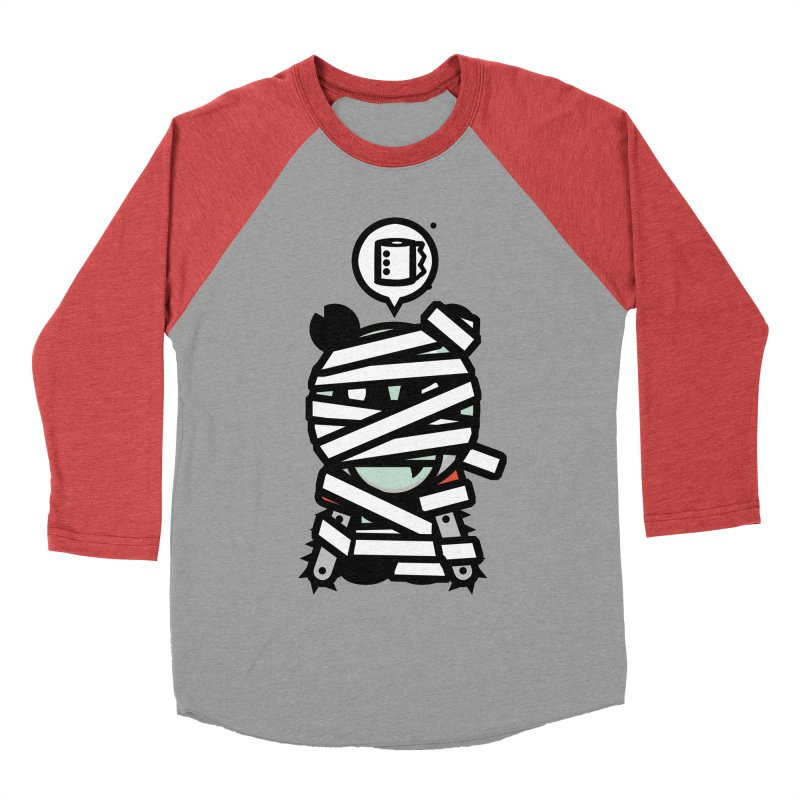 Chainsaw Panda Mummy Women's Baseball Triblend T-Shirt by pause's Artist Shop