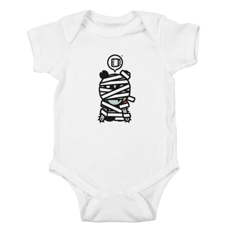 Chainsaw Panda Mummy Kids Baby Bodysuit by pause's Artist Shop