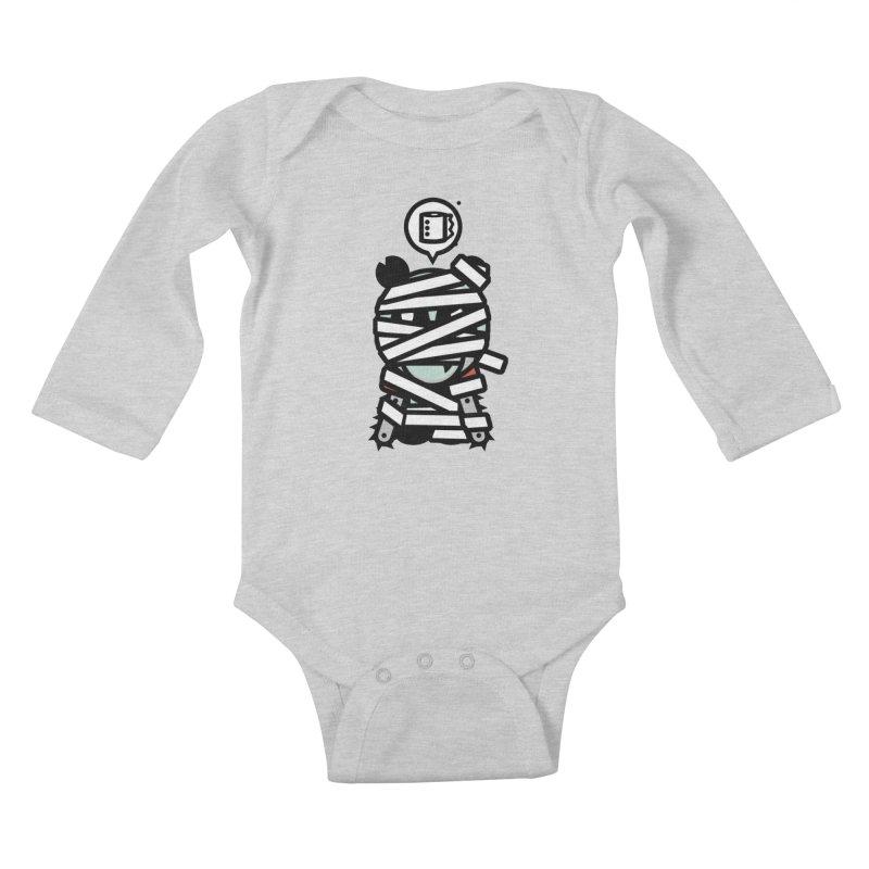 Chainsaw Panda Mummy Kids Baby Longsleeve Bodysuit by pause's Artist Shop