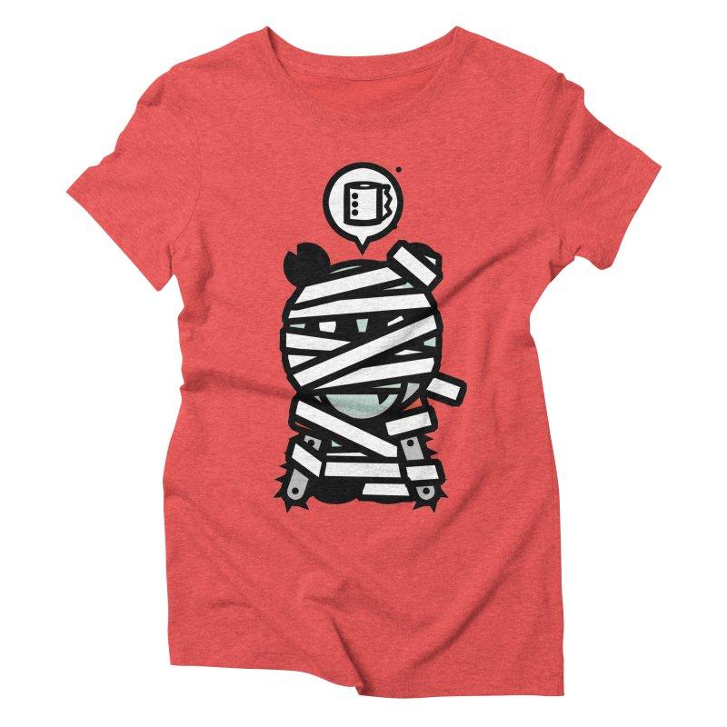 Chainsaw Panda Mummy Women's Triblend T-shirt by pause's Artist Shop
