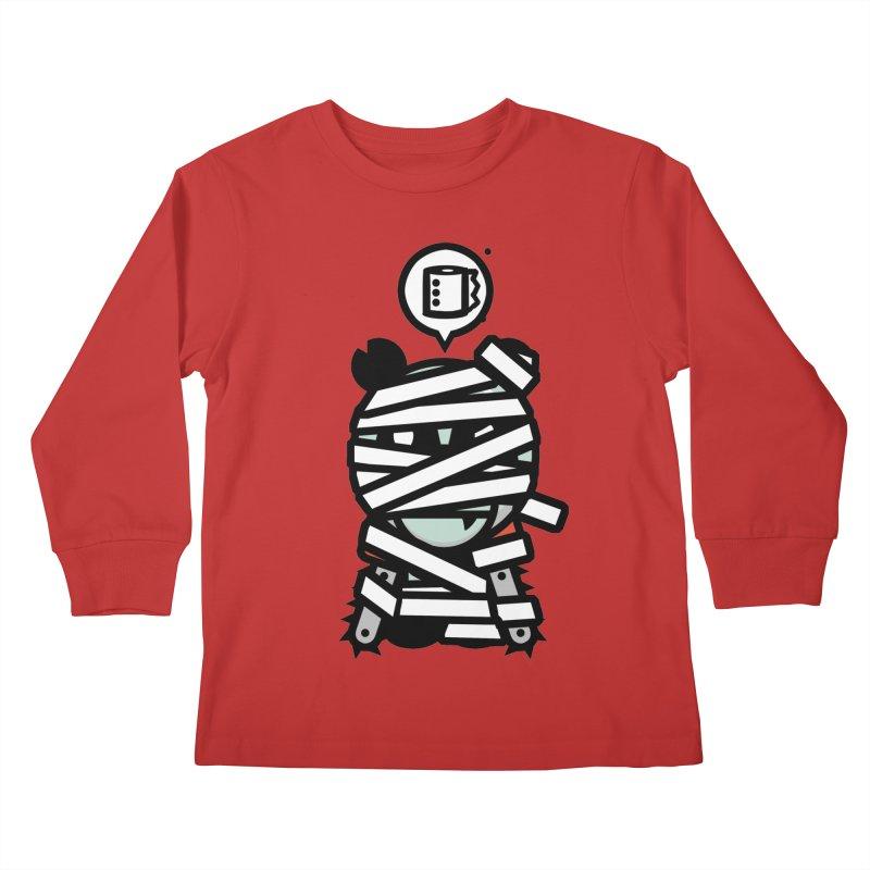 Chainsaw Panda Mummy Kids Longsleeve T-Shirt by pause's Artist Shop