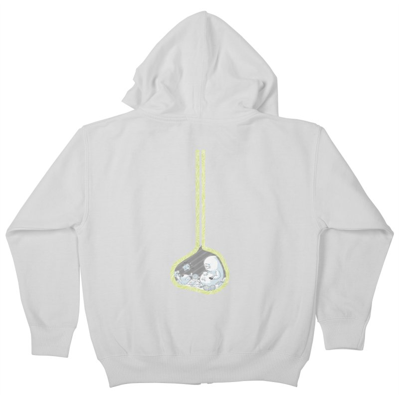Indigestion Kids Zip-Up Hoody by pause's Artist Shop