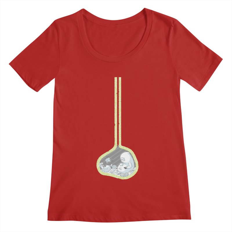 Indigestion Women's Scoopneck by pause's Artist Shop