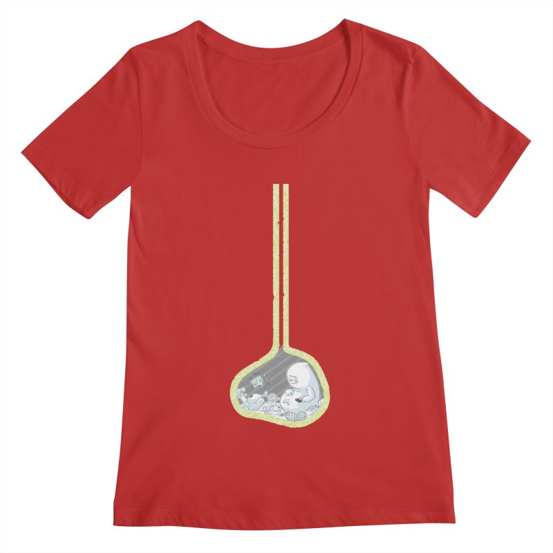 Indigestion Women's Scoopneck by pause's Artist Shop