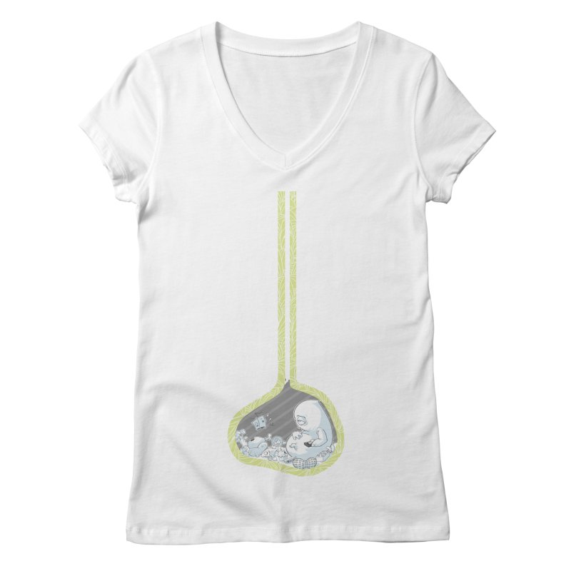 Indigestion Women's V-Neck by pause's Artist Shop