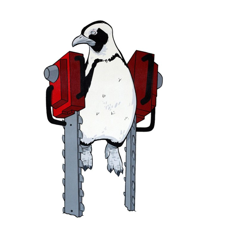 Chainsaw Penguin None  by pause's Artist Shop