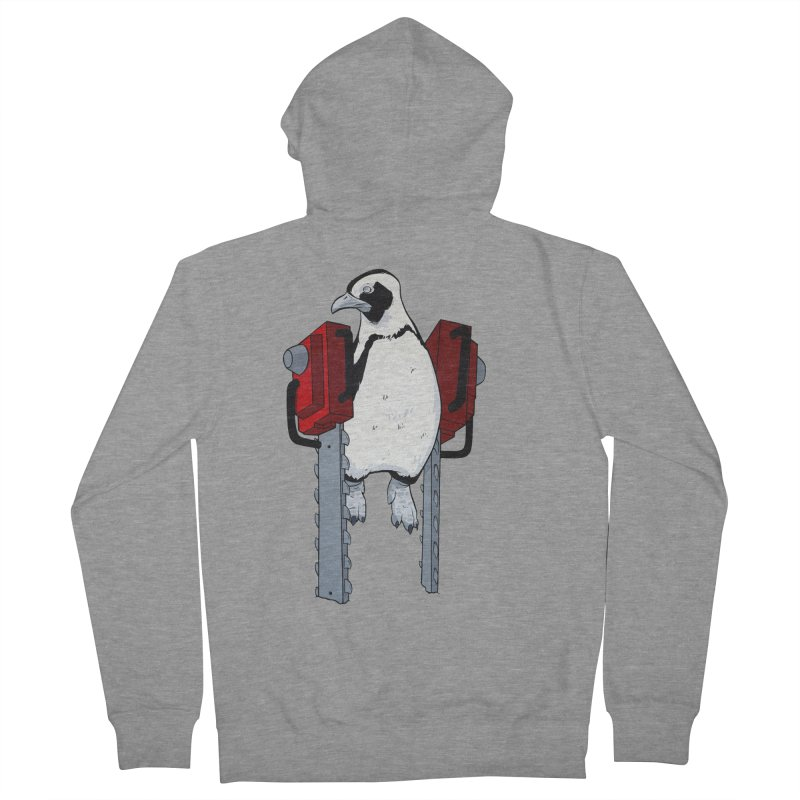 Chainsaw Penguin Women's Zip-Up Hoody by pause's Artist Shop