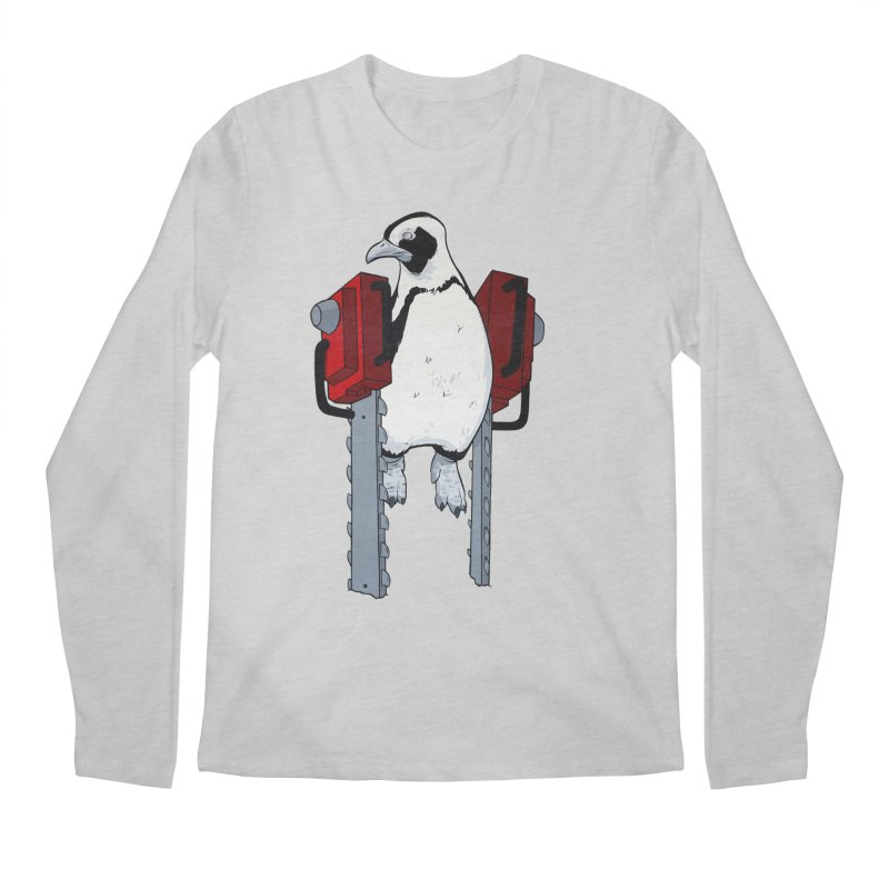 Chainsaw Penguin Men's Longsleeve T-Shirt by pause's Artist Shop
