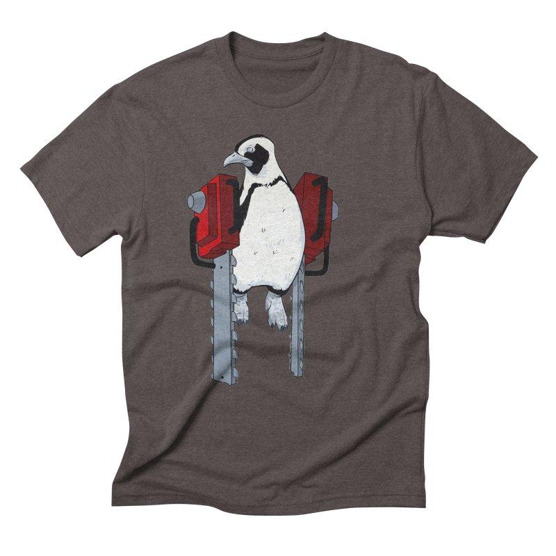 Chainsaw Penguin Men's Triblend T-Shirt by pause's Artist Shop