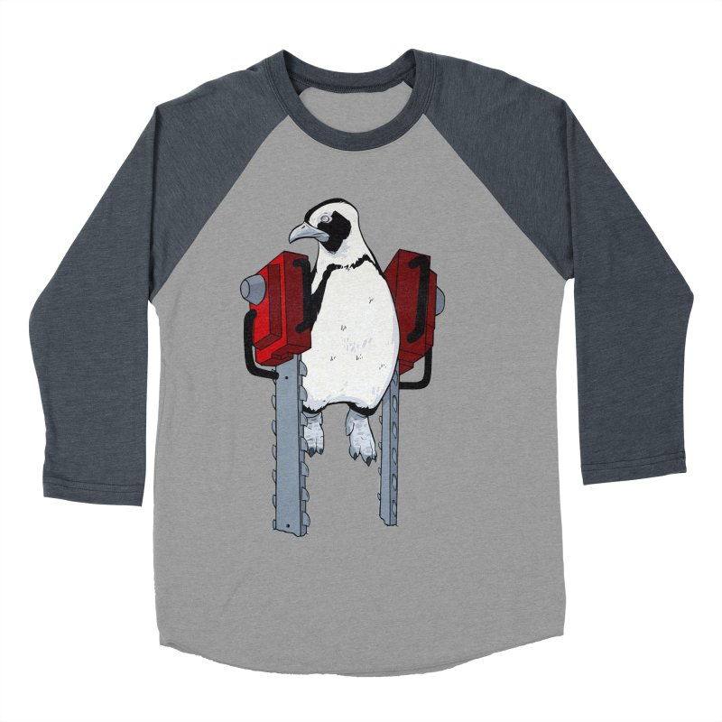Chainsaw Penguin Women's Baseball Triblend T-Shirt by pause's Artist Shop