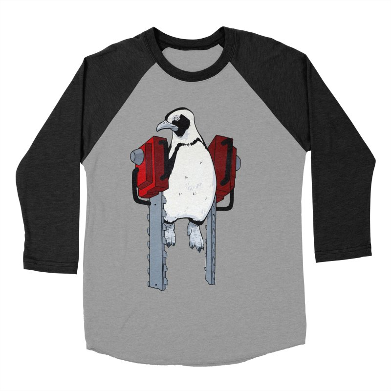 Chainsaw Penguin Men's Baseball Triblend T-Shirt by pause's Artist Shop
