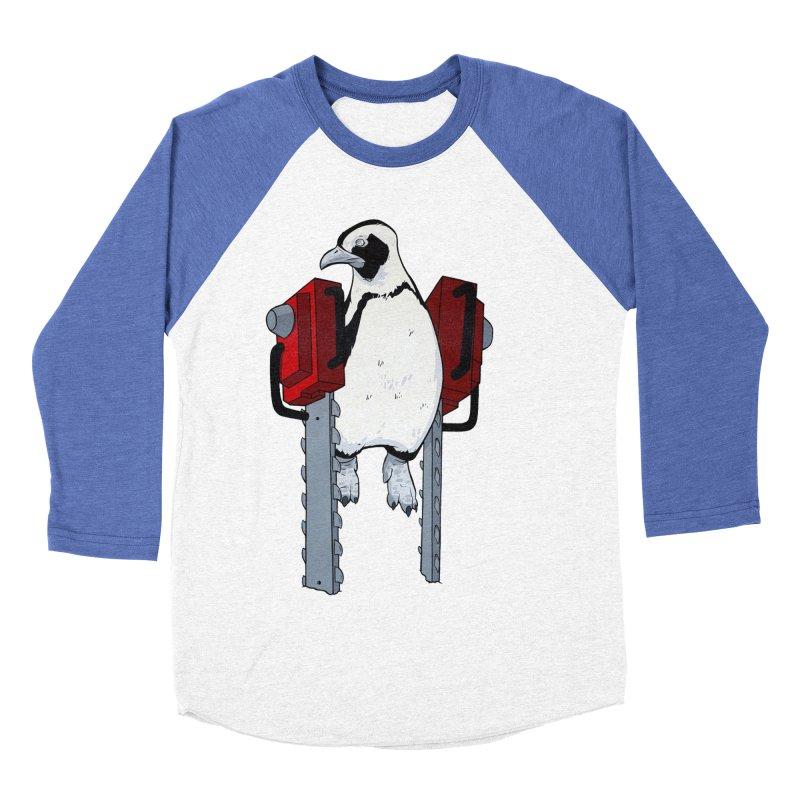 Chainsaw Penguin Men's Baseball Triblend T-Shirt by pause's Artist Shop