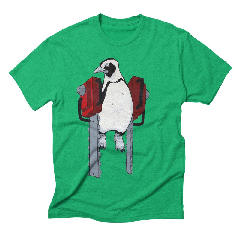 Chainsaw Penguin Men's Triblend T-shirt by pause's Artist Shop