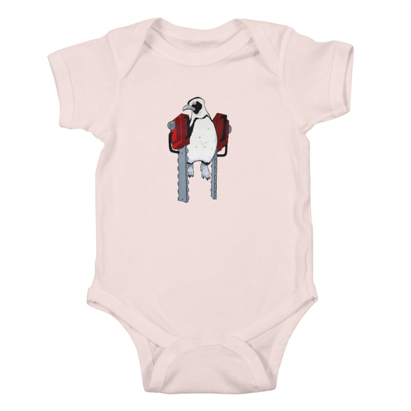 Chainsaw Penguin Kids Baby Bodysuit by pause's Artist Shop