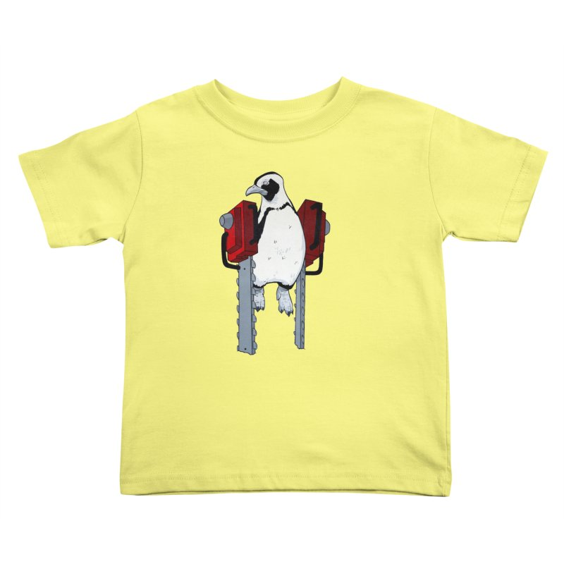 Chainsaw Penguin Kids Toddler T-Shirt by pause's Artist Shop
