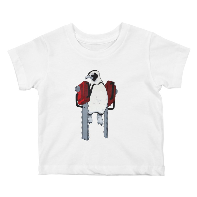 Chainsaw Penguin Kids Baby T-Shirt by pause's Artist Shop