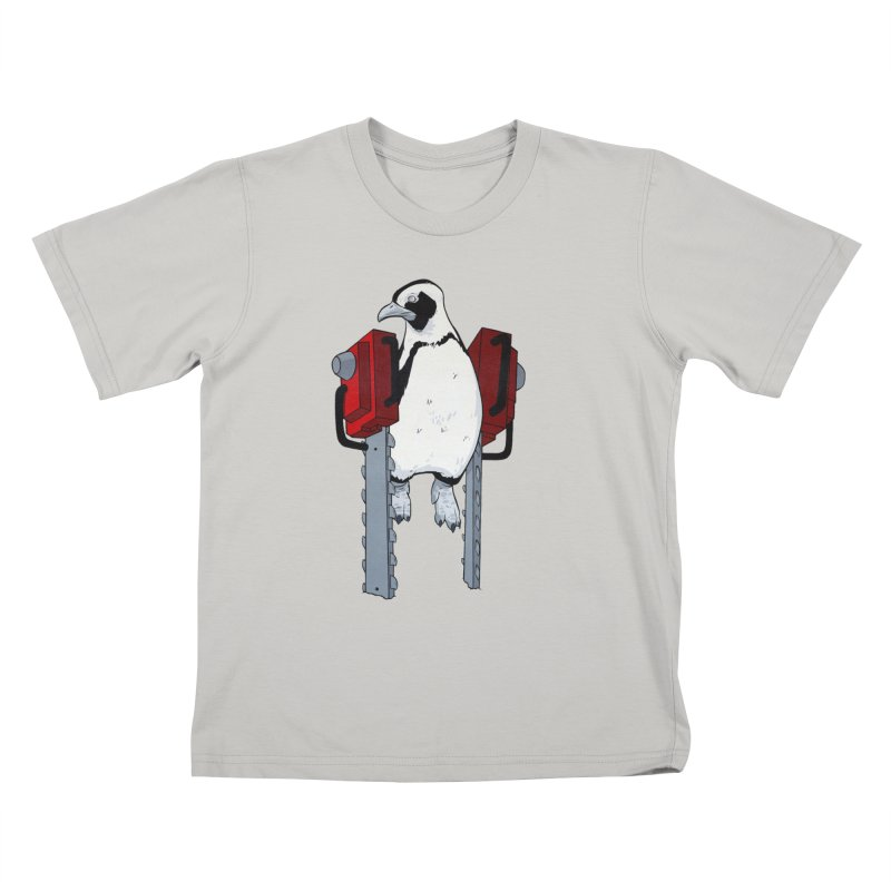 Chainsaw Penguin Kids T-Shirt by pause's Artist Shop