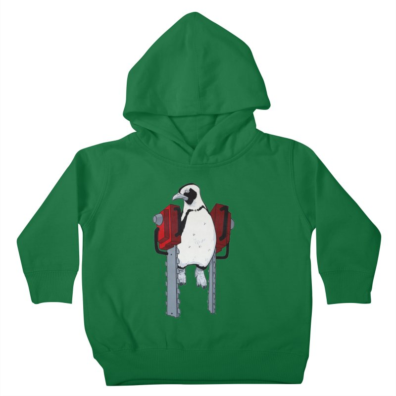 Chainsaw Penguin Kids Toddler Pullover Hoody by pause's Artist Shop