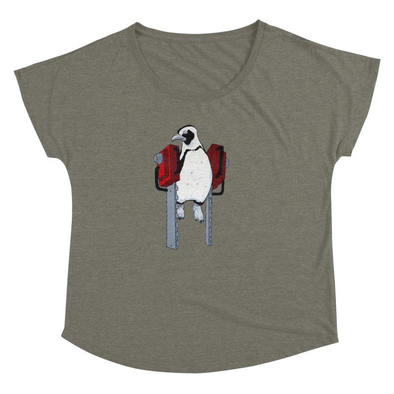 Chainsaw Penguin Women's Dolman by pause's Artist Shop