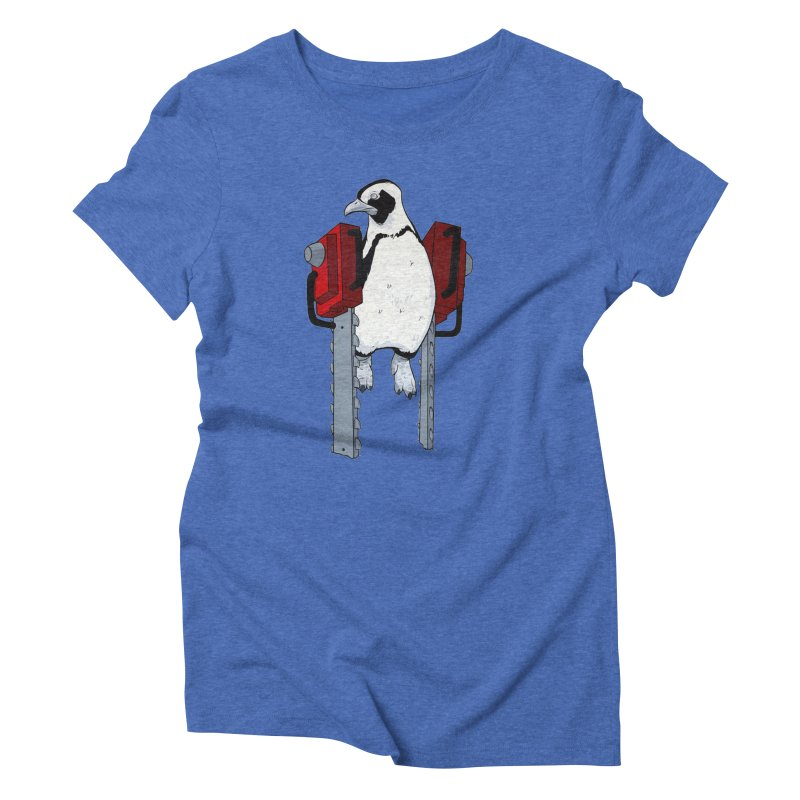 Chainsaw Penguin Women's Triblend T-shirt by pause's Artist Shop