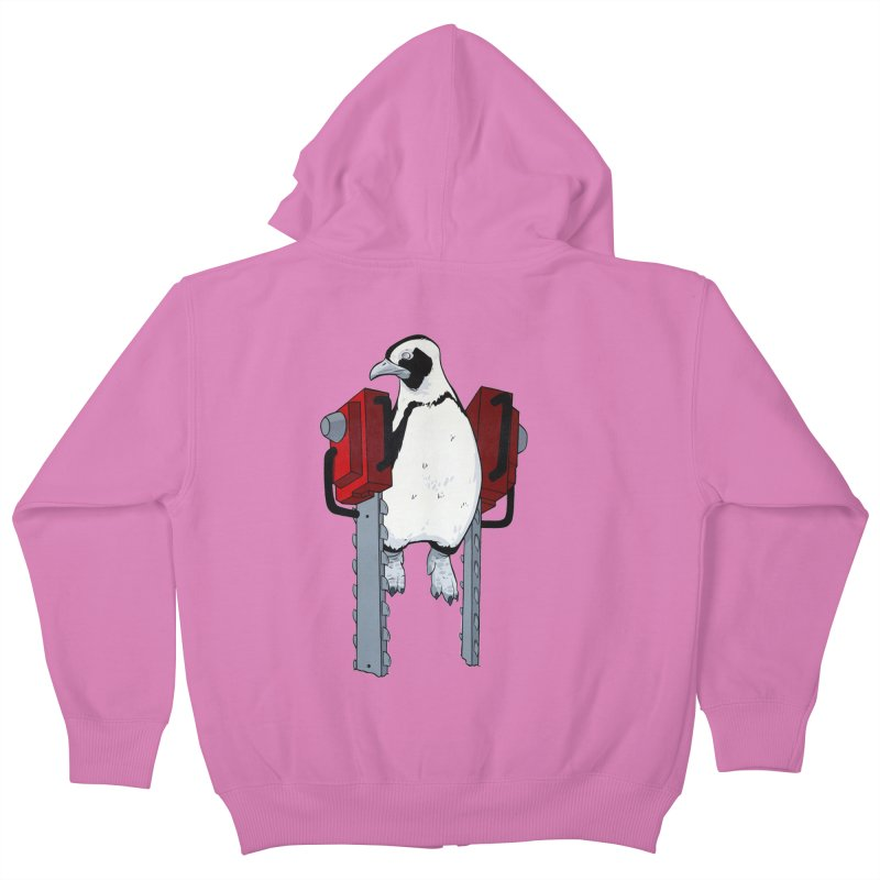 Chainsaw Penguin Kids Zip-Up Hoody by pause's Artist Shop