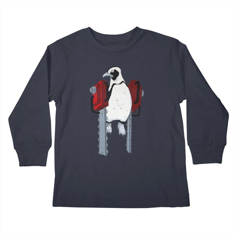 Chainsaw Penguin Kids Longsleeve T-Shirt by pause's Artist Shop