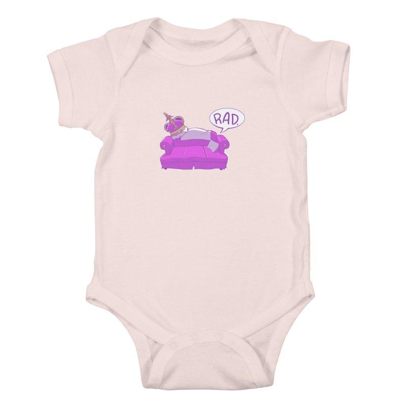 Sofa King Rad Kids Baby Bodysuit by pause's Artist Shop