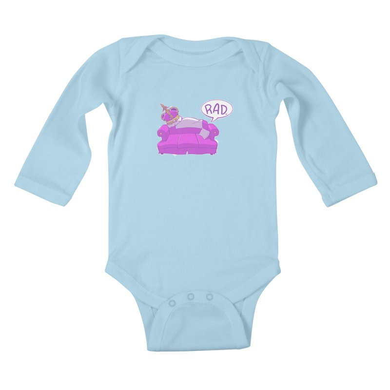 Sofa King Rad Kids Baby Longsleeve Bodysuit by pause's Artist Shop
