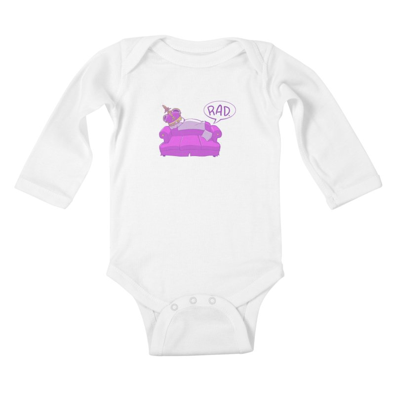 Sofa King Rad Kids Baby Longsleeve Bodysuit by pause's Artist Shop