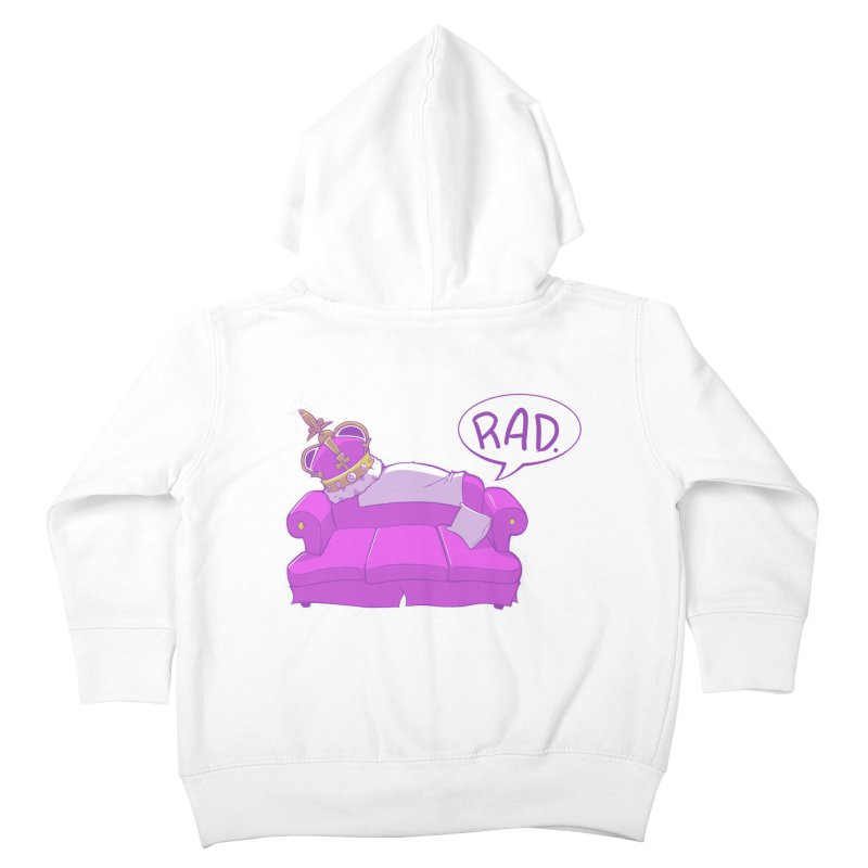 Sofa King Rad Kids Toddler Zip-Up Hoody by pause's Artist Shop