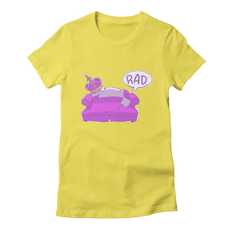 Sofa King Rad Women's Fitted T-Shirt by pause's Artist Shop
