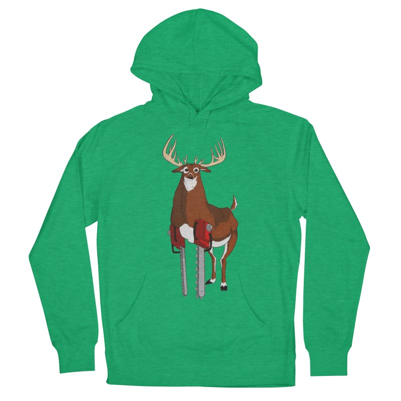 Chainsaw Deer Women's Pullover Hoody by pause's Artist Shop