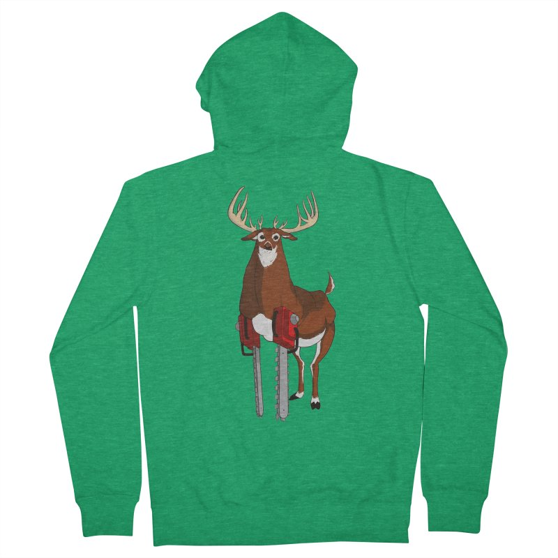 Chainsaw Deer Women's Zip-Up Hoody by pause's Artist Shop