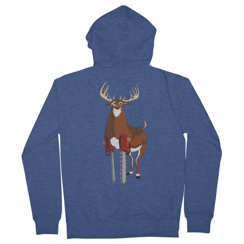 Chainsaw Deer Men's Zip-Up Hoody by pause's Artist Shop