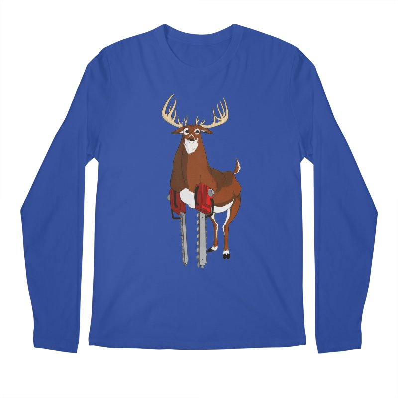 Chainsaw Deer Men's Longsleeve T-Shirt by pause's Artist Shop