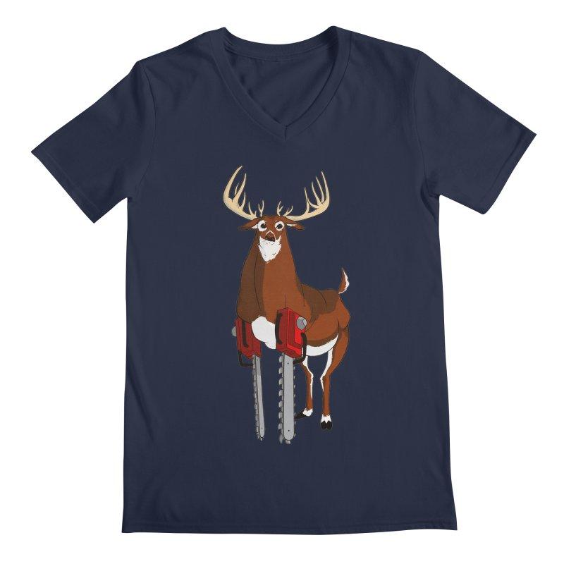 Chainsaw Deer Men's V-Neck by pause's Artist Shop