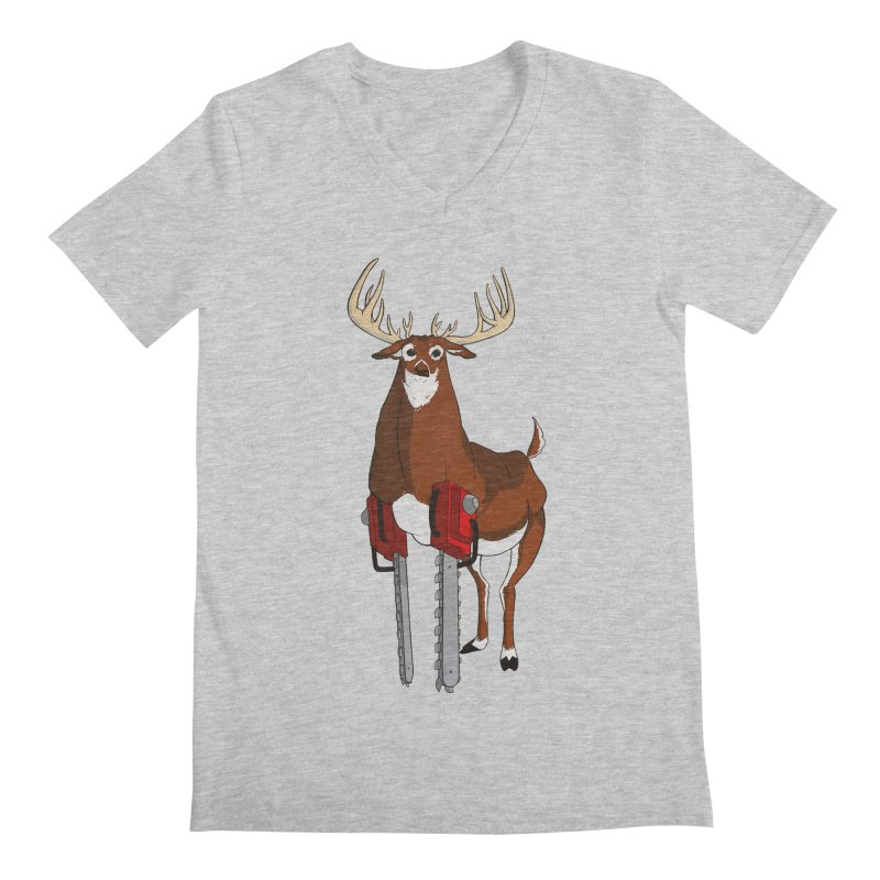Chainsaw Deer Men's V-Neck by pause's Artist Shop