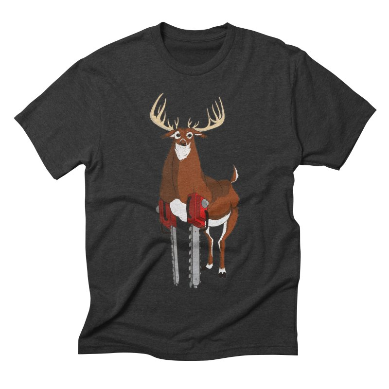 Chainsaw Deer Men's Triblend T-shirt by pause's Artist Shop