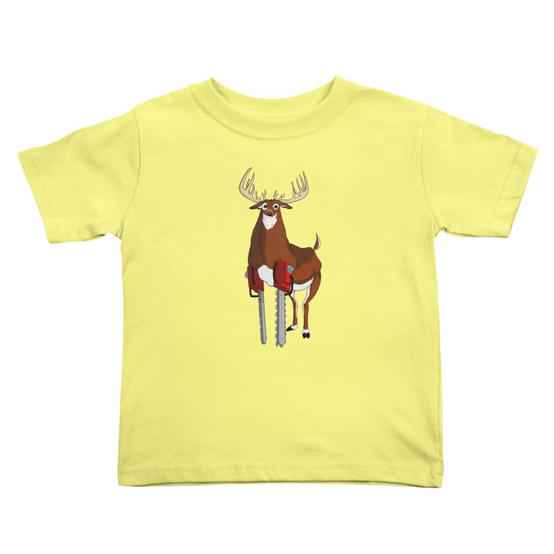 Chainsaw Deer Kids Toddler T-Shirt by pause's Artist Shop