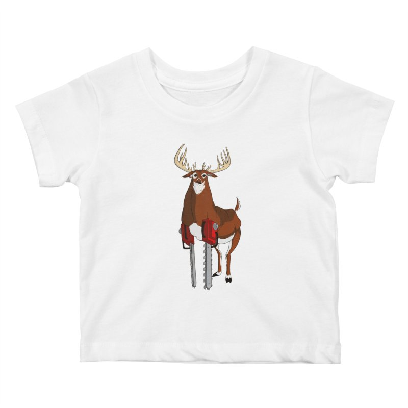 Chainsaw Deer Kids Baby T-Shirt by pause's Artist Shop
